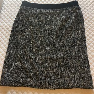 Talbots black/white pencil skirt